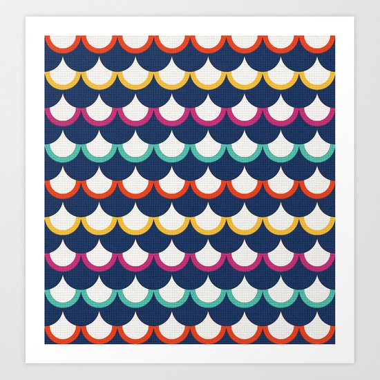 Retro Scales Art Print
