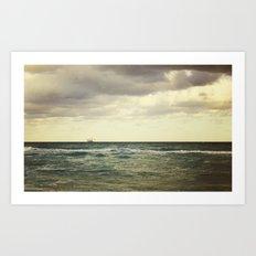 Barge Art Print