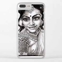 Indian Beauty Clear iPhone Case