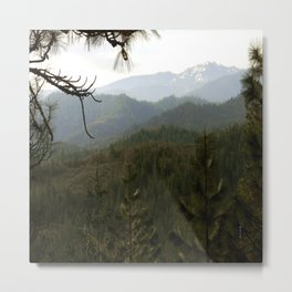 Hazy day in the mountains.... Metal Print