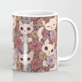 Floral Cat Pattern Coffee Mug