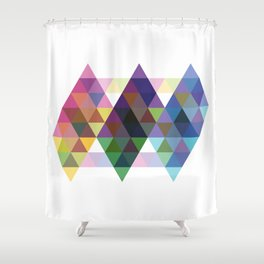 Fig. 034 Colorful Diamonds Shower Curtain