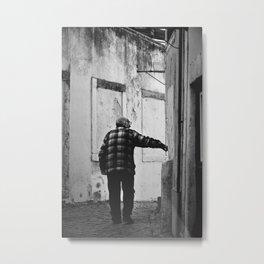 What's behind the corner? Metal Print