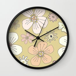 Fun and Funky Flowers No. 4 Wall Clock