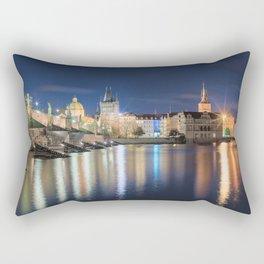 Charle's Bridge at Night Rectangular Pillow