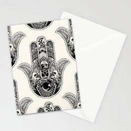Hamsa Hand French Bulldog Stationery Cards