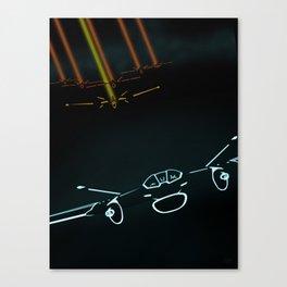 TRON LIGHT JET Canvas Print