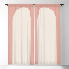 Minimal Arch - Pink Blackout Curtain