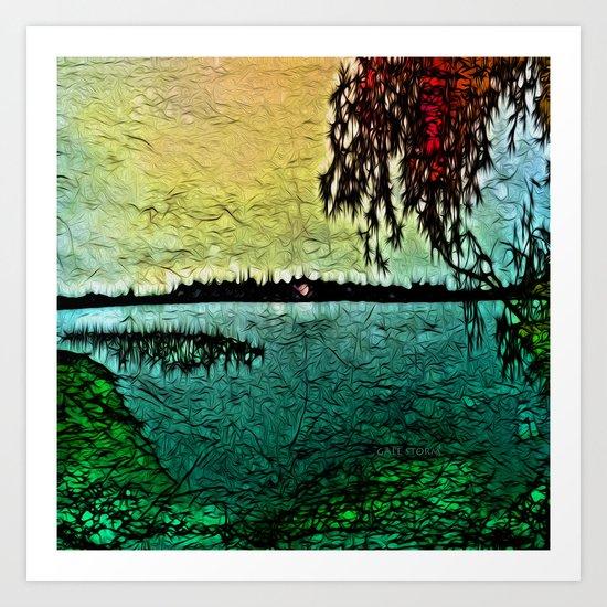 :: Lake View :: Art Print