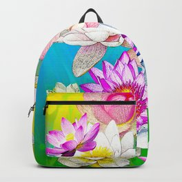 Lotus pond Backpack