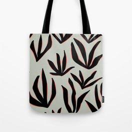 foliage grey neon pink Tote Bag