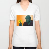 apocalypse now V-neck T-shirts featuring Apocalypse Now Marlon Brando by CultureCloth