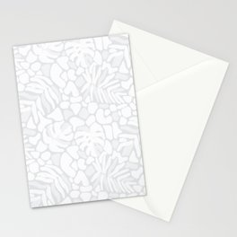 Matisse Gray Tropical Leaves Stationery Cards