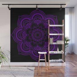 Deep Purple Mandala Wall Mural