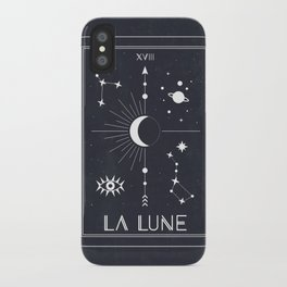 The Moon or La Lune Tarot iPhone Case