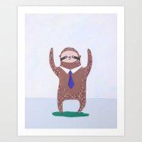 White Sloth no. 2 Art Print