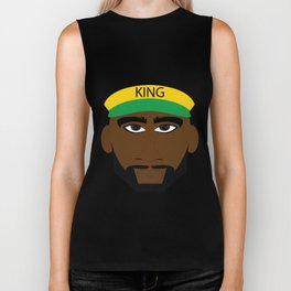 Black Yellow Green Jamaica King Biker Tank