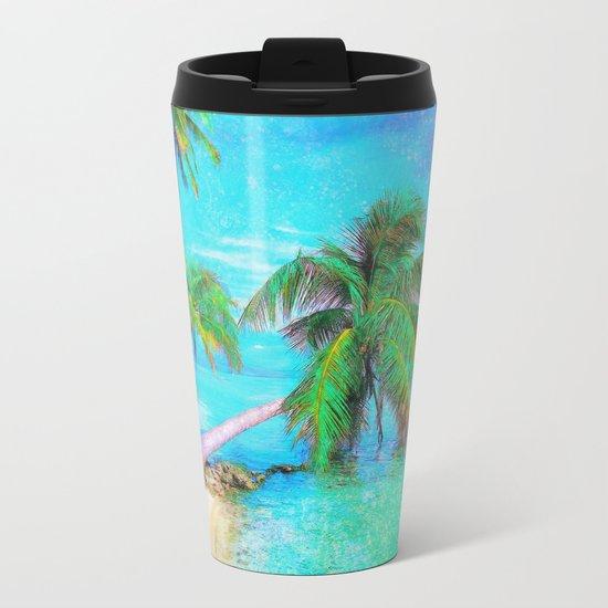 Palms on the Bay Metal Travel Mug
