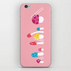 Mushroom Maintenance Pink iPhone Skin