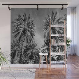 Black & White Date Palms Yuma Pencil Drawing Photo 2 Wall Mural