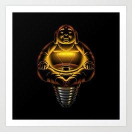 Buddha Lamp Art Print