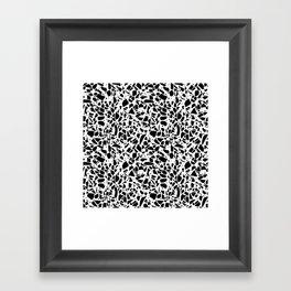 Terrazzo Spot 2 Black on White Framed Art Print