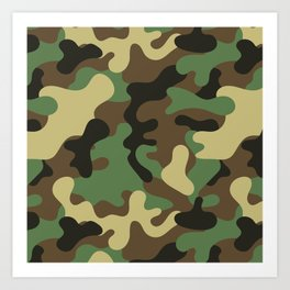Classic Camouflage Pattern Art Print