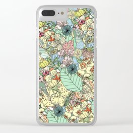 Nature Bloom Pattern Clear iPhone Case