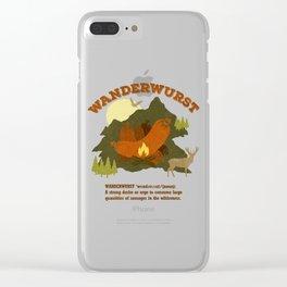 WanderWurst Clear iPhone Case