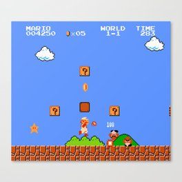 Super Mario Bros Canvas Print