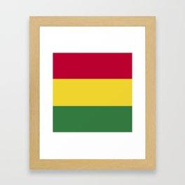 Bolivia flag emblem Framed Art Print