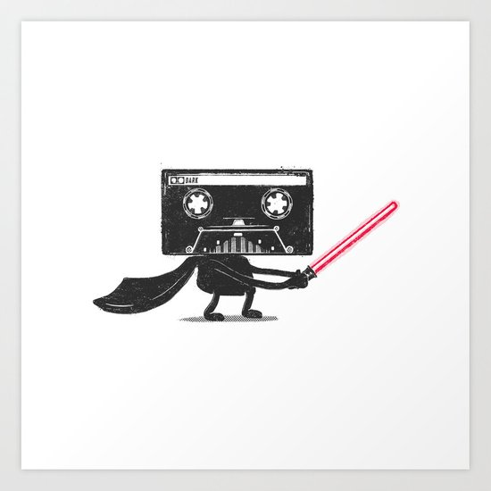 Media Wars: The Cassette Strikes Back Art Print