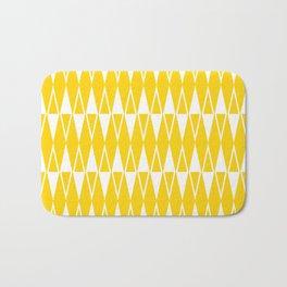 Mid Century Modern Diamond Pattern Yellow 234 Bath Mat