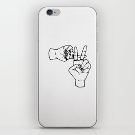 clique hand sign iPhone Skin