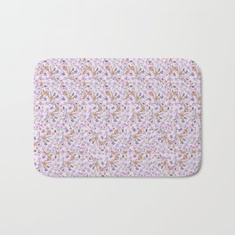 flowers and leaves on pink background . ( https://society6.com/simpledoodles/collection ) Bath Mat