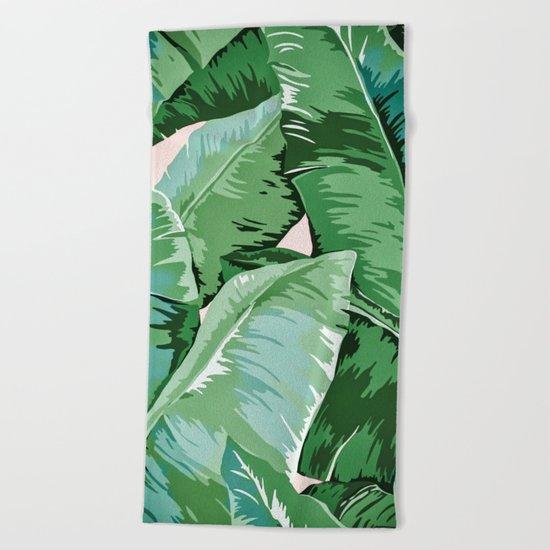 Banana leaf grandeur II Beach Towel