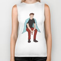 dean winchester Biker Tanks featuring Winter Dean Winchester by HarvestMoon