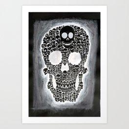 Black Skull Art Print