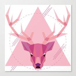 Geometric Stag Canvas Print