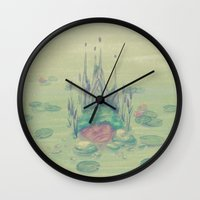soul eater Wall Clocks featuring eater by michelle borjon