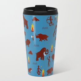 Stone age - Fabric pattern Travel Mug