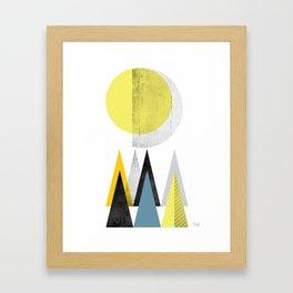 yellow geometric Scandinavian inspiration Framed Art Print