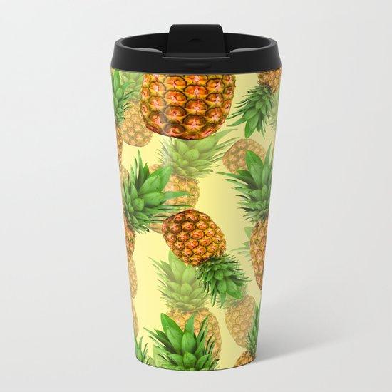 Pineapple Party Metal Travel Mug