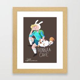 Fionna and Cake Framed Art Print