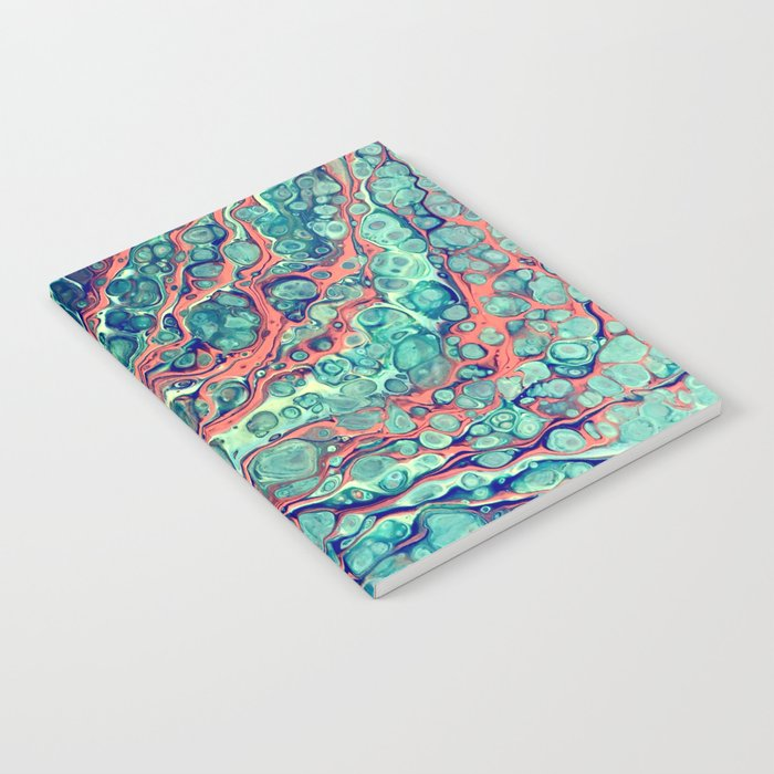 """Abstract Coral   """"Reef""""   Fluid Acrylic   Pink   Painting Notebook"""