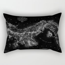 Panama Antique Map Rectangular Pillow