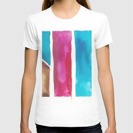 180811 Watercolor Block Swatches 6| Colorful Abstract |Geometrical Art T-shirt