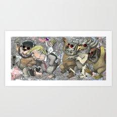 Let The Wild Trumpus Begin Art Print