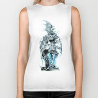mother of dragons Biker Tanks featuring dragons by Moonlight Creations
