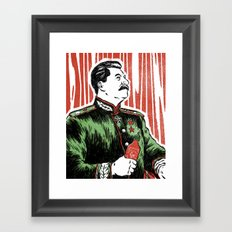 Stalin Sauce Framed Art Print